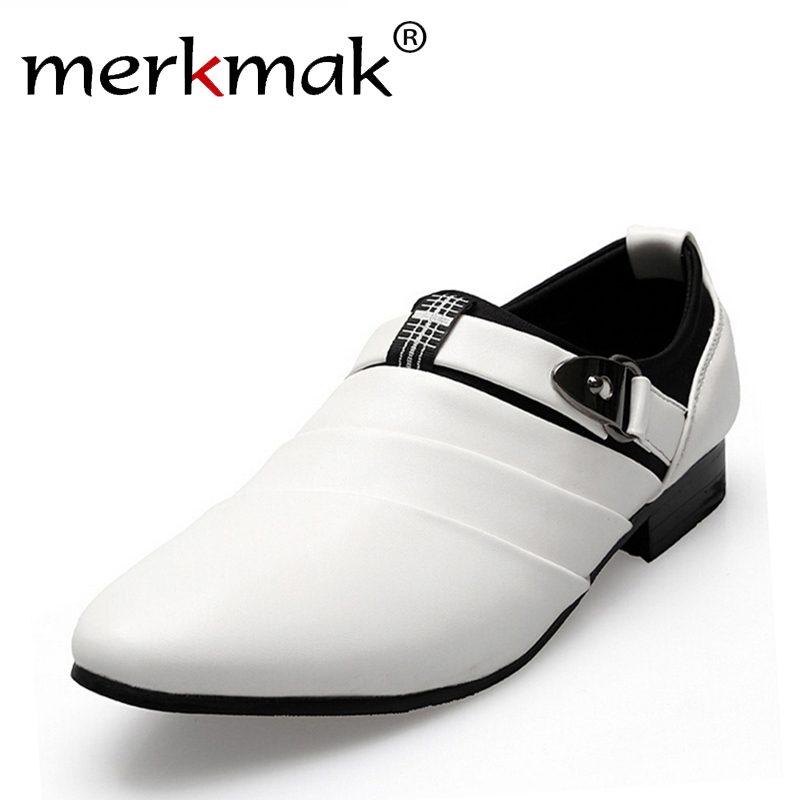 Hot Sale! new 2018 British Men Leather Shoes slip on Mens flats casual flats pointed toe Oxfords Wedding Shoes free shipping<br>