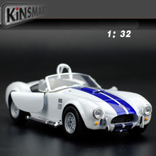 Classic 1/32 Scale Vintage Ford 1965 Shelby Cobra 427 S/C Cool Diecast Metal Pull Back Car Model Toy For Gift/Kids