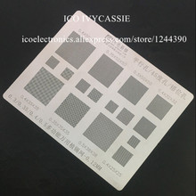 Multi Function Versatile BGA Stencil 0.3/0.35/0.4/0.5/Parallel/45 Degres Hole BGA Direct Heating Template 0.12mm Thickness(China)
