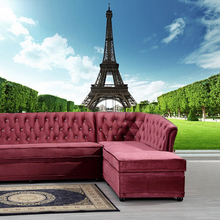 Free Shipping 3D France Paris Eiffel Tower sofa TV background wall bedroom living room hotel restaurant wallpaper mural