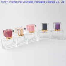 Retail 30ml 100Pcs Crystal Perfume Bottle Empty Rectangular Glass Perfume Bottle Portable Transparent/Clear Sprayer 5 Colors(China)