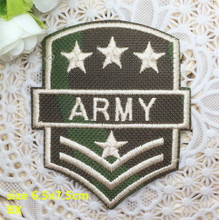 New arrival 10 pcs stars and army words embroidered patch iron on Motif Applique BX Fabric cloth embroidery accessory(China)