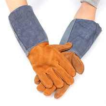 Welding WELDERS Work Soft Cowhide Leather Plus Gloves For protecting hand(China)