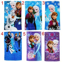 60*120cm In stock Elsa Anna Kids Beach Towels Fashion Children Bath Towel Cotton Cartoon Towels plush toy