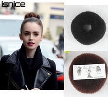 isnice 3pcs Fashion Easy Design Style Hair Like Bun Hair Elastic Bands Women and Girls Headbands Hair Accessories Donut Headwear(China)