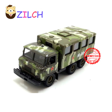 1:43 High imitation ETI Russian military transport alloy car model in original box pull back muical flashing toy for children(China)