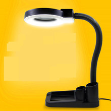 40 LED magnifying glass table lamp electronic maintenance with lamp magnifying glass 10 times the welding work lights