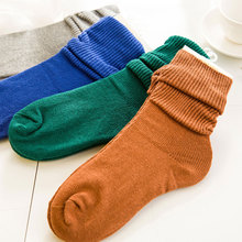 New trendy fashion Vintage socks for women/female/girl/lady, 4 pairs solid color knee-high ankle sock autumn/winter boots socks