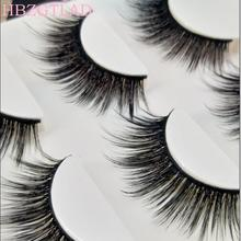 Handmade Thick False Eyelashes Cross 3D Multilayer Premium Fibers 0.07 Natural Fake Eyelashes Stage Show Makeup Art Eye Lashes(China)