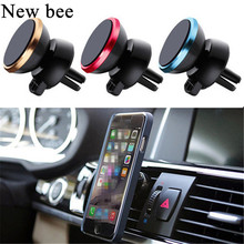 Newbee Car Magnetic Sticker Mobile Phone Holder GPS Stand Outlet Air Vent Clip Mount Anti Slip Mat For Renault Mitsubishi Audi(China)