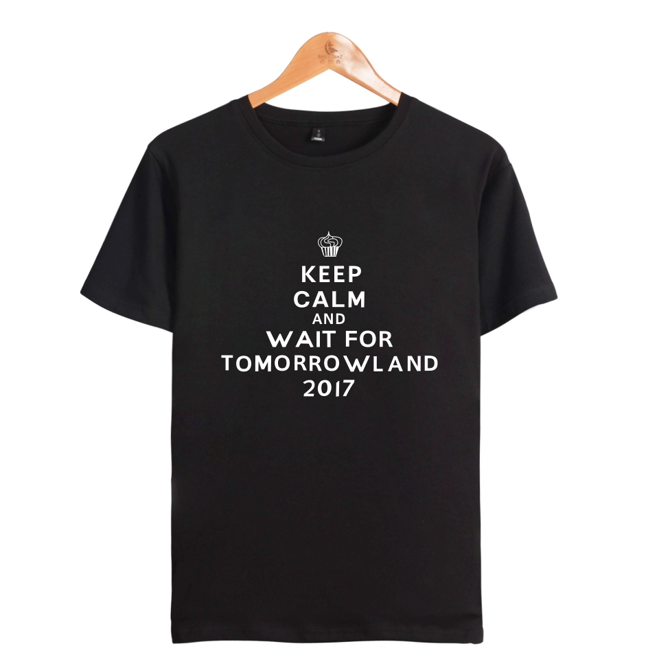 Two Step Tomorrowland Tshirt Keep Calm Go To Tomorrowland T Shirt Summer Clothing Short Sleeve Tees Many Style