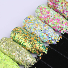 3g Cheese Nail Sequins Green Rose Red Yellow Blue Series Hexagon Glitter Paillette DIY Nail Tips 22 Colors Available