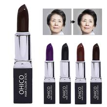Hair Dye Hair Disposable Coloring Lipstick Fast Temporary Hair Dye Black Brown Cover White Hair Portable Care Tool A4(China)