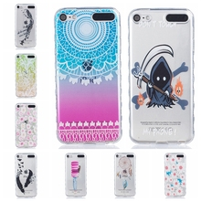 Limelan For Apple iPod Touch 5th 6th Skull Lemon Clear Phone Case Coque for iPod Touch 5G 6G Case tpu Silicone Soft Back Cover