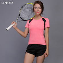 LYNSKEY Women Tennis Clothes Yoga Set Badminton Clothing Fitness Running Shirt+Shorts Quick Dry Gym Workout Jogging Sport Suit(China)