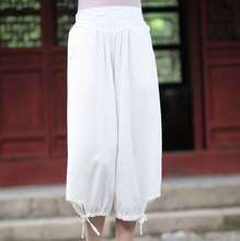 High Quality Women's Cotton Linen Capris Pants Casual Loose Wide Leg Pant Chinese Style Calf-Length Trousers S M L XL XXL 2609(China)