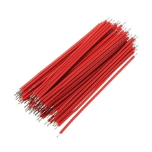 Best Promotion100pcs Breadboard Jumper Cable Wires Tinned 1.0mm 6cm Red Electric Unit Promotion