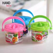 HAND PUTTY 12 Color/Barrel Air Drying DIY Malleable Fimo Polymer Modeling Clay Playdough Play dough Toy Colourful Plasticine 6cm
