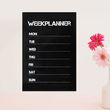 2017 High Quality Weekly Planning Essential Memo Chalk Board Blackboard Wall Sticker Decal Vinilos Paredes Home Decor(China)