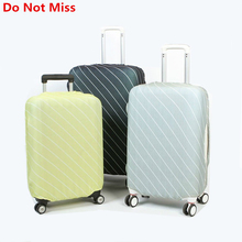 Do Not Miss New Stripe Travel Suitcase dust cover Trolley case Dust cover durable Elasticity suitcase shell Protective cover