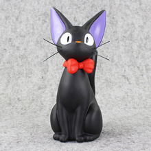 Studio Ghibli Hayao Miyazaki Anime Kiki's Delivery Service Piggy Bank Black JiJi Cat Action Figures Toys Collection Model Toy(China)