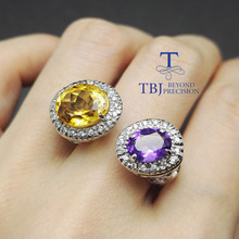 Tbj ,100% african citrine and amethyst big oval citrine and amethyst ring in 925 silver women ring,natural gemstone ring