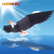 LIGHTAILING Brand DIY Kite Painting Kite without Handle Line Outdoor Toys Flying 3D EAGLE Toy Kite Fly Kite Nylon Ripstop Fabric