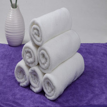 New 5Pcs Cotton Hand Bath Towel Washcloths Salon Spa Hotel Beach White 30*60CM P0.5