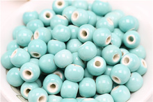 Fresh blue porcelain beads Lake blue ceramic beads 6~10mm size of the entire 50 price DIY Bracelet beauty 01210