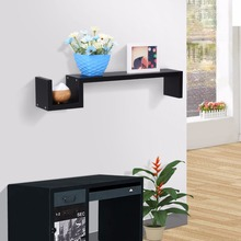 Finether Modern Bookshelf S-Shaped Floating Wall Mount Shelf Bookshelf Display Rack Ledge High Quality Laminated MDF Shelf(China)