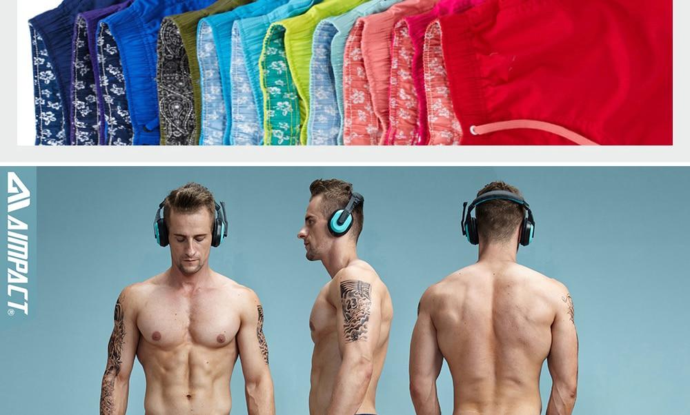 Aimpact Quick Drying Men's Board Shorts Popular Men's Jogger Short Fashion Sexy Men's Board Short PF55 Men Shorts Drop Shopping 15