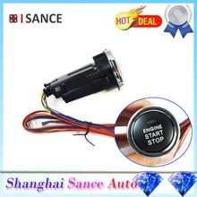 ISANCE Auto Vehicles Engine Start Stop Button Push Start Keyless Switch and Wires Red Illumination ( just what showed in photos)(China)
