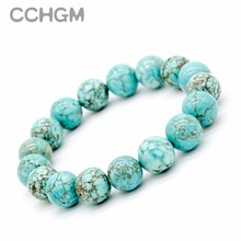 Buy 2017 New Natural Turquoises stone beads bracelets women round beads bracelet jewelry pendant vintage jewelry Bracelets for $1.19 in AliExpress store