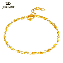 Women 24k Gold Bracelet Genuine Pure 999 Gold Carambola Female Bangle Girl Party Gift Good Nice Discount 2017 New Hot Sale Fine