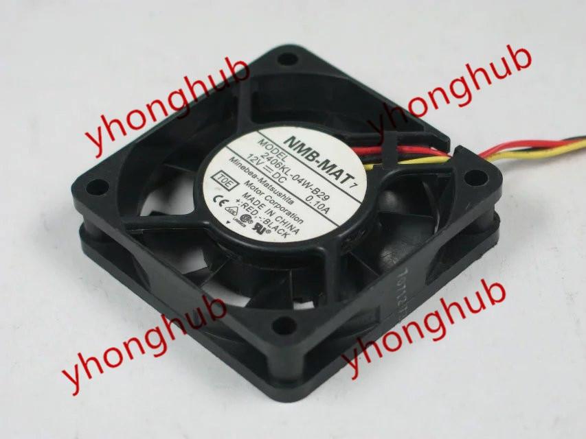 Free Shipping For NMB 2406KL-04W-B29 T0E DC 12V 0.10A 3-wire 3-pin 60x60x15mm Server Square fan<br>