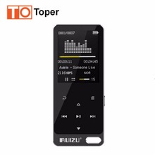 Original RUIZU X19 HIFI MP3 Player 8GB Touch Button Lossless Sound 1.1 inch OLED Screen Support FM,E-Book Recording Music Player