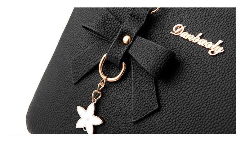 WENYUJH New 18 Elegant Shoulder Bag Women Designer Luxury Handbags Women Bags Plum Bow Sweet Messenger Crossbody Bag for Women 11