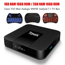Tanix TX3 Mini Smart TV Box Amlogic S905W 1.5GHz Set-top TV Box 2.4GHz WiFi Android 7.1 2G DDR3 16G 4K HD H.265 Media Player(China)