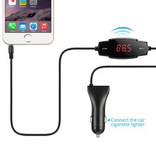 Car Auto Radio Stereo FM Transmitter with 2.4A USB Car Charger Hands-free For MP3 iPhone HTC Android phone