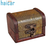 Haicar organizer Decorative Trinket Jewelry Storage Box Handmade Vintage Wooden Treasure Case u61223