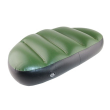 green pvc inflatable seat air cushion mat 46*32*10cm waterproof inflatable boat fishing boat outdoor inflatable seat pillow(China)