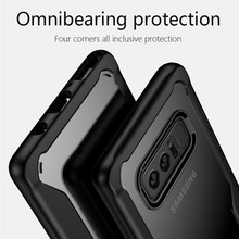 Popular Case for Samsung Note 8 Full Case TPU+PC Anti-knock Transparent Back Cover case for Samsung Note 8 N950F N950 S8 PLUS