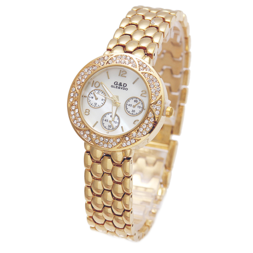 2017 srebrny luksusowa marka G & D kobiet zegarek kwarcowy Lady bransoletki z zegarkiem ze stali nierdzewnej Relojes Mujer Relogio Feminino prezent -