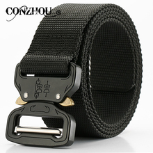 Buy canvas belt/male belt/luxury brand men belt/belt famous/cowboy belt/men's waist belt/army belt/military belt buckle/alloy buckle for $11.12 in AliExpress store