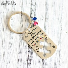1PC Autism Puzzle Charm Keychain Awareness Key Ring Gifts Jigsaw Autism Keychains Puzzle Piece Keyring Keepsake Gift for Her Him(China)