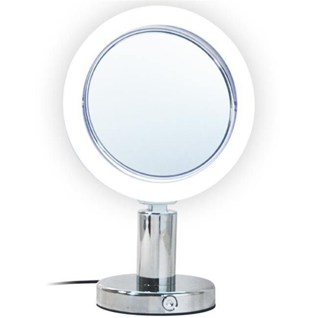 Rucci M894 7x and 1x Magnification Led Chrome Stand Mirror