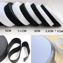 10meters white black elastic spandex belt trim sewing/ribbon clothes flex sewing material for shorts skirt trousers elastic band(China)