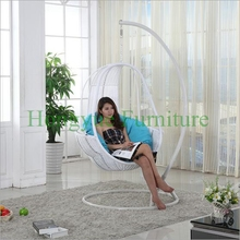 Hanging rattan chair set furniture with cushions