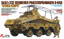 RealTS Tamiya model 35297 1/35 GERMAN 8-WHEELED HEAVY ARMORED CAR Sd.Kfz.232 AFRICA-CORPS