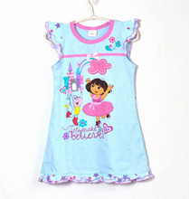 Buy retail 100% cotton kids/children/girls cartoon pajamas, sleepwear, nightgowns, kids dress (MOQ: 1pc) for $11.76 in AliExpress store